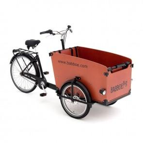Ombouwset driewieler bakfiets bagagerek accu - zwart