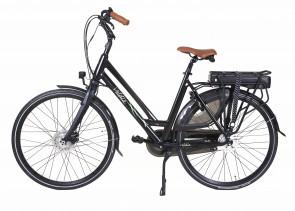 Veldia City E-bike mat zwart - 49 cm