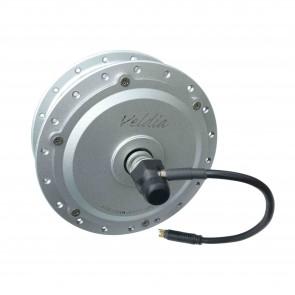 Voorwiel hoogkoppelmotor 104F V-brake/ schijfrem 220 RPM - zilver